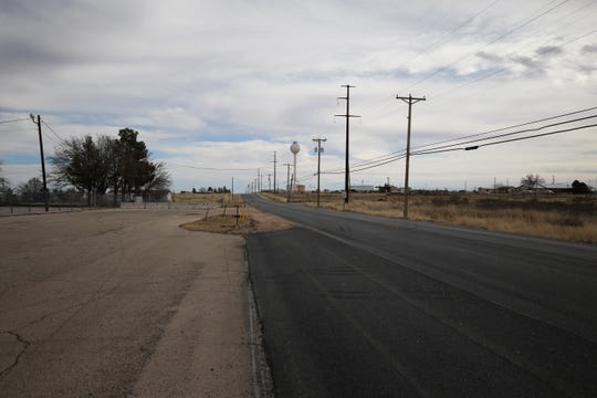 Fresh pavement greets drivers on Derrick Road south of Carlsbad. Eddy County Public Works Director Ray Romero says favorable weather has helped construction for the past few months.