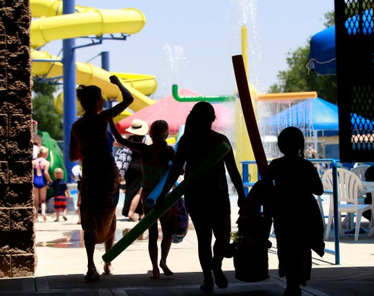 The hot weather drew a lot of people to the Bloomfield Family Aquatic Center in June 2016 in Bloomfield. This year the center will remain closed through the fall due to the coronavirus outbreak and concerns over city finances.