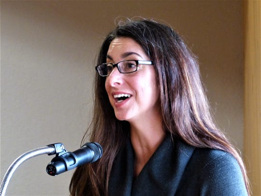 Blue-ribbon committee chairman Gillian Baudo advocated for passage of Senate Bill 9 funding.