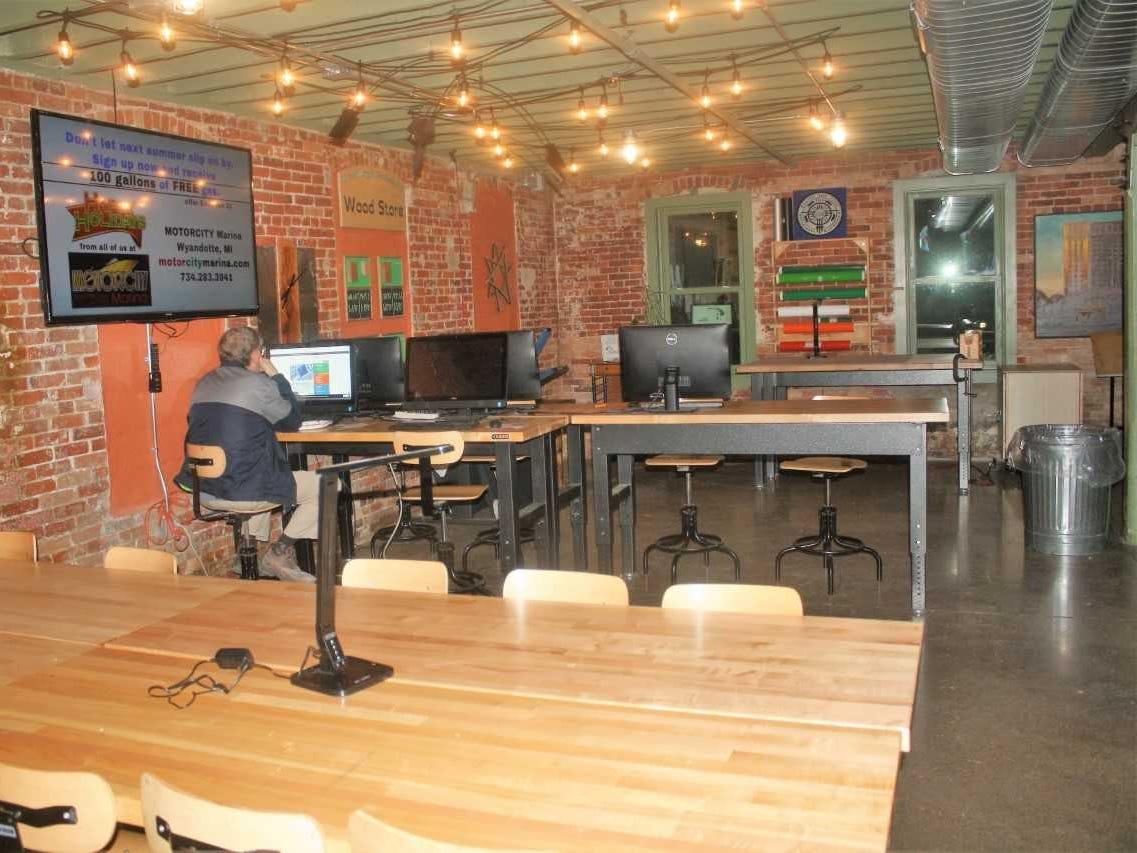 Coworkers can rent out single desks or entire suites at Northville's Village Workshop.