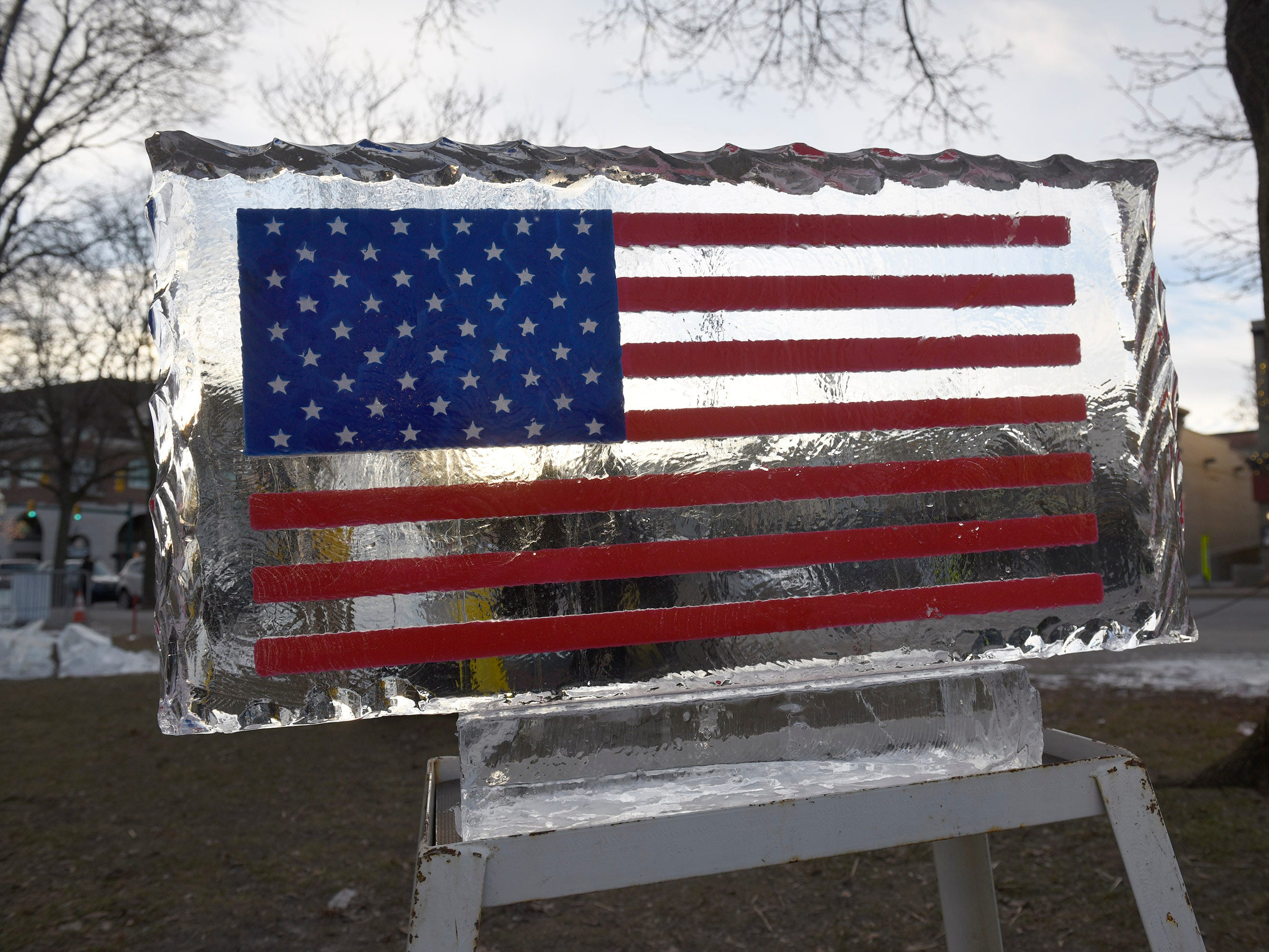Ice sculptures at the 2019 Plymouth Ice Festival that runs Jan. 11-13.