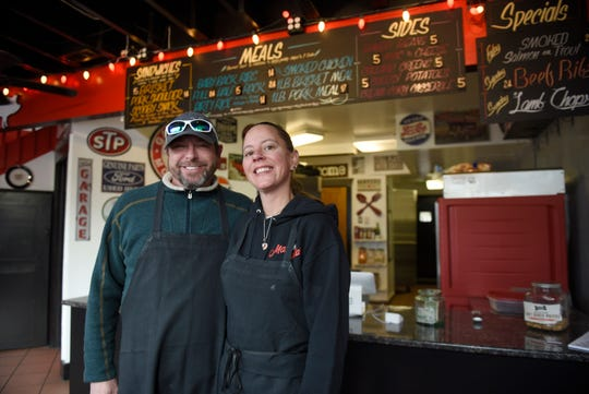 Chef Aaron Peggs and his wife Kim, opened Max and Bella's Smokehouse in Plymouth on Ann Arbor Trail just east of Kellogg Park.