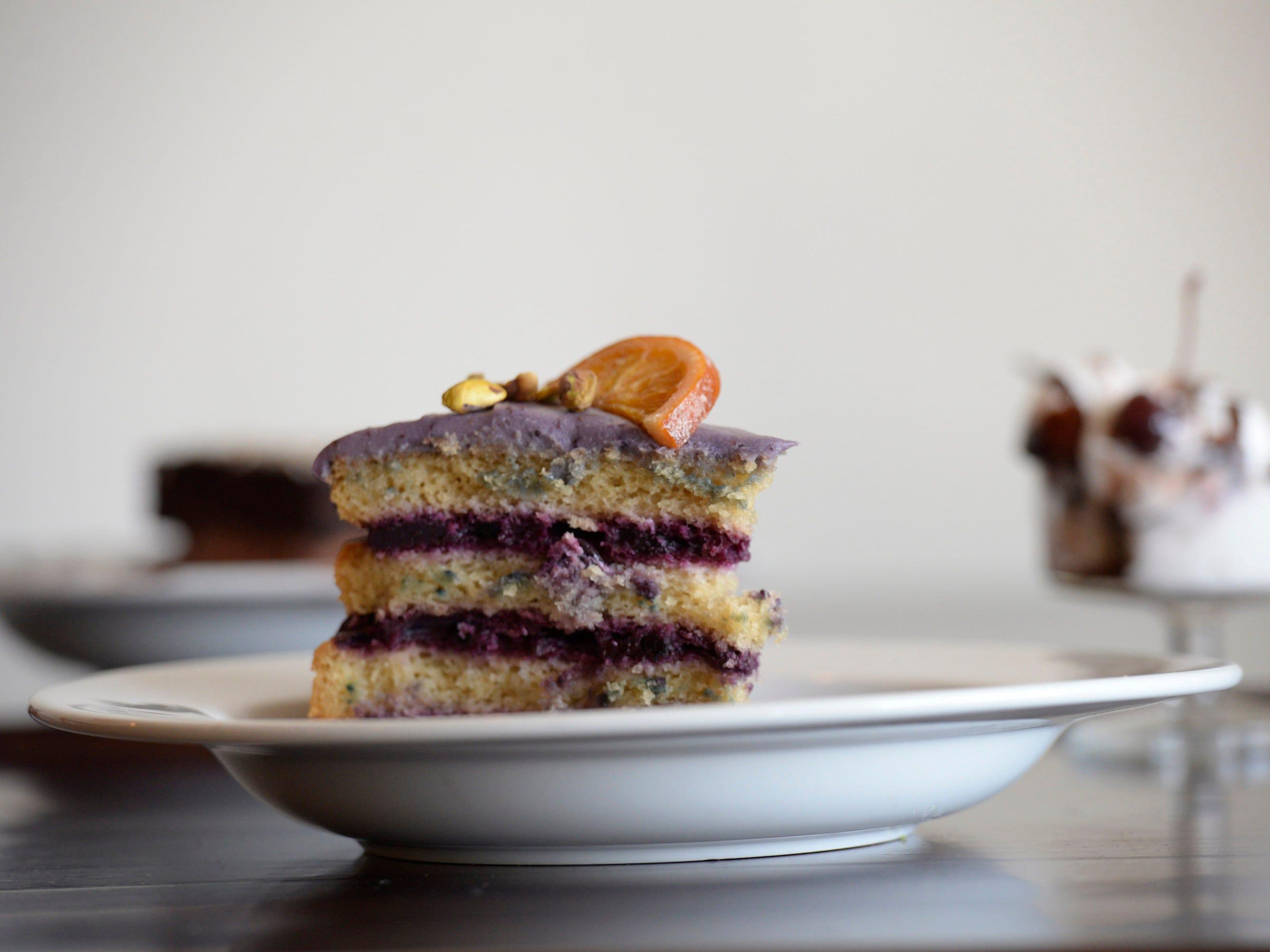 Blueberry Cardamom Cake.