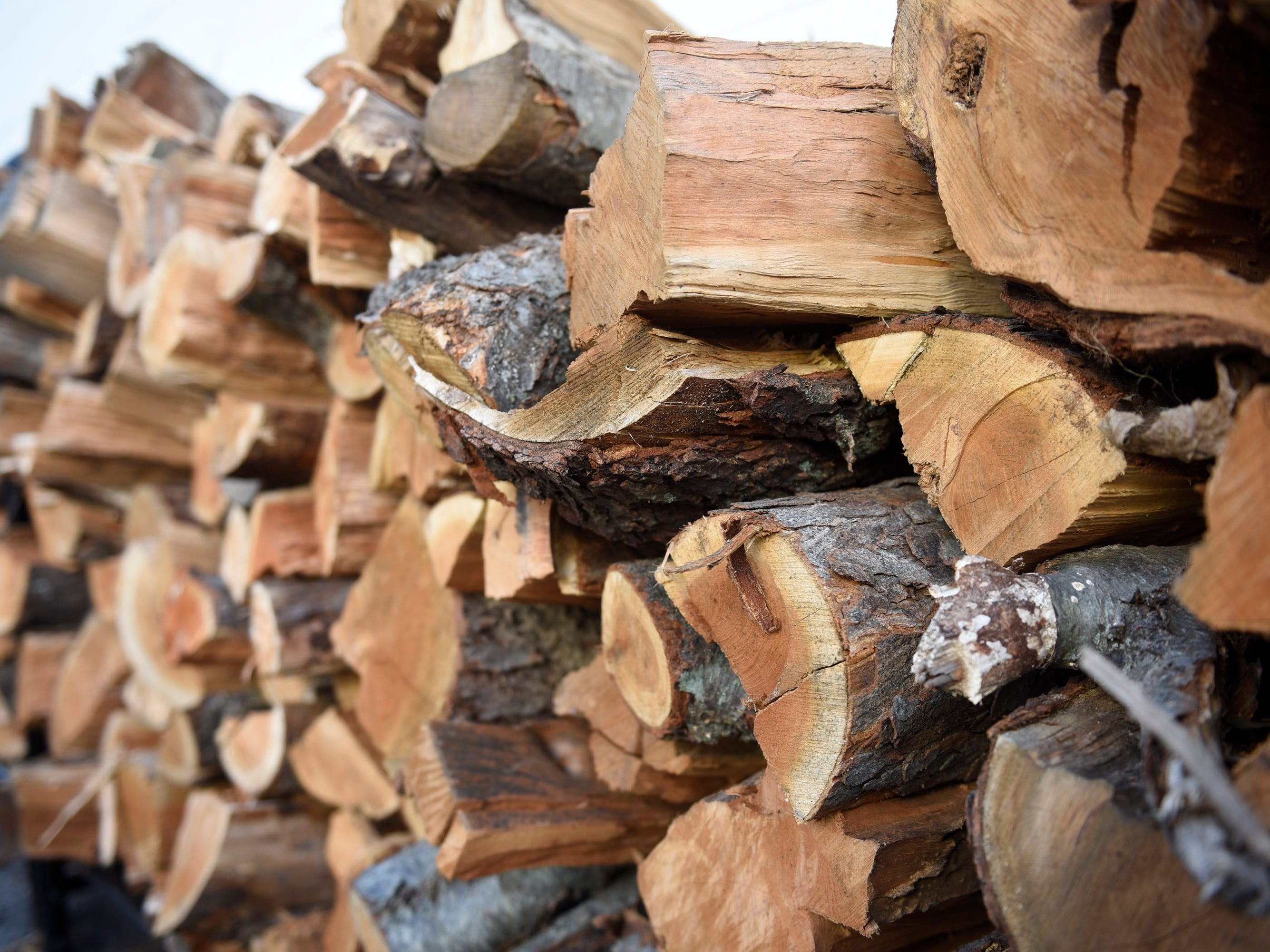 A large supply of wood is at the ready at Max and Bella's Smokehouse in Plymouth.