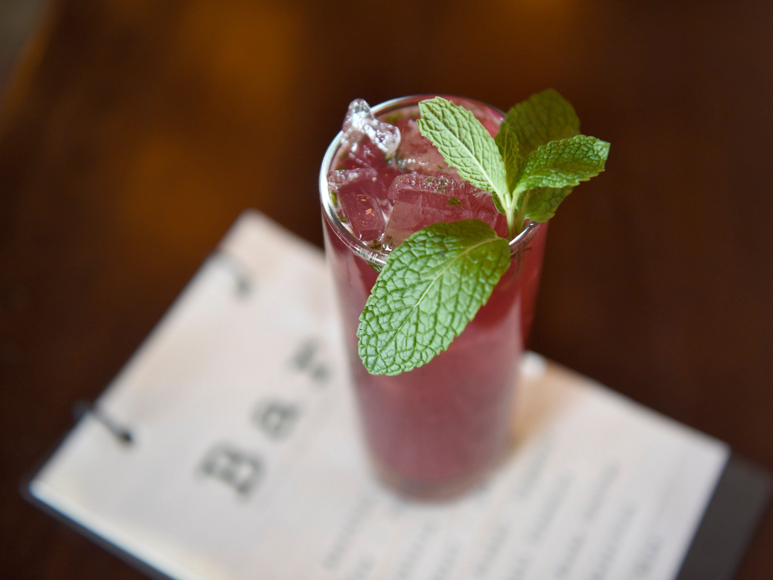 The Blackberry Cooler mocktail at Chive Kitchen in Farmington.