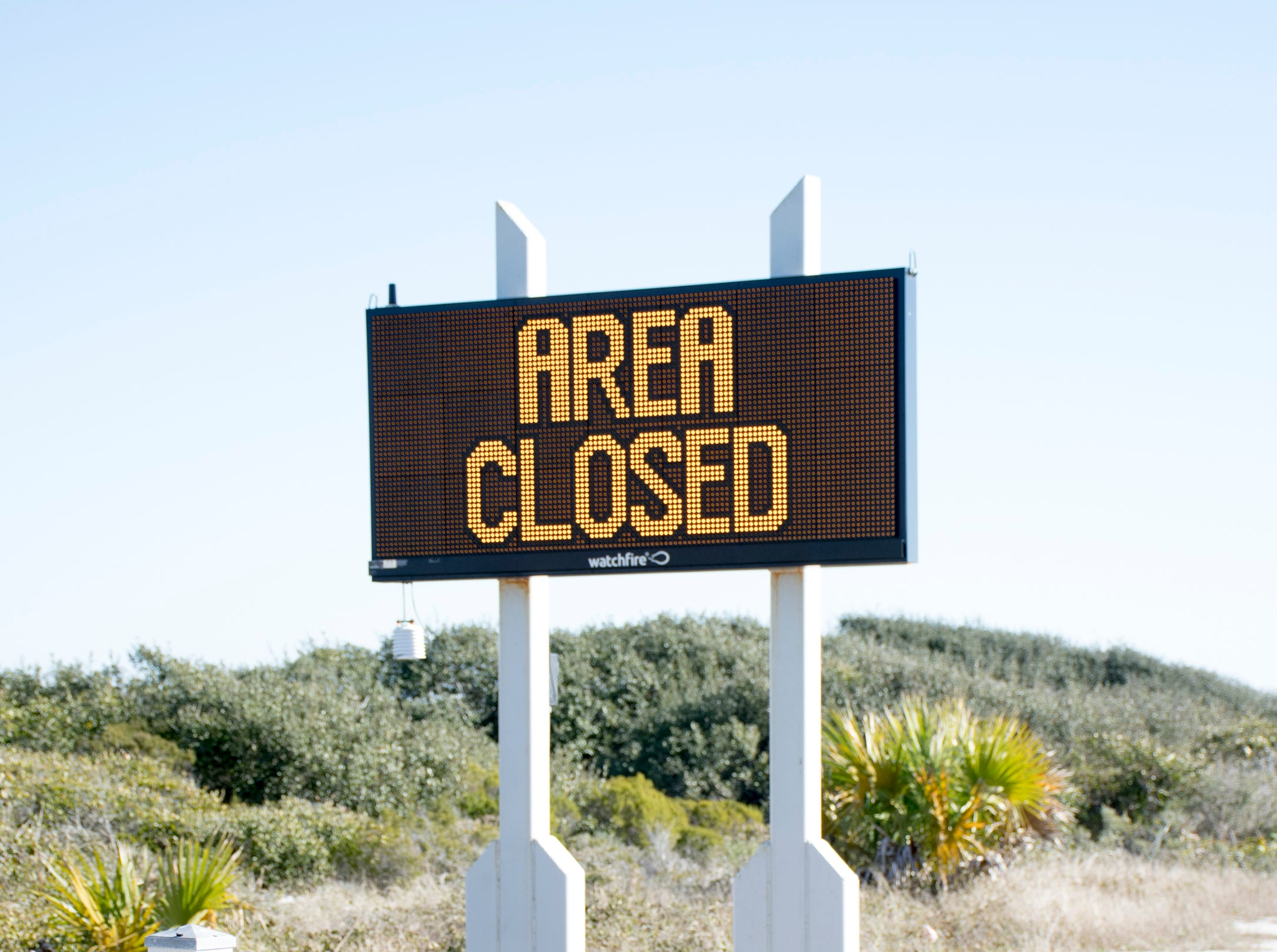 Gulf Islands National Seashore's Rosamond Johnson Beach in Perdido Key is closed due to the federal government shutdown on Friday, January 11, 2019.