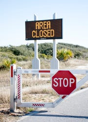 Gulf Islands National Seashore's Rosamond Johnson Beach in Perdido Key remains closed Friday due to the federal government shutdown.