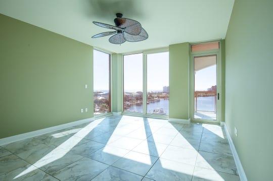 721 Pensacola Beach Boulevard - Verandas #601The master bedroom includes balcony access and a water view.