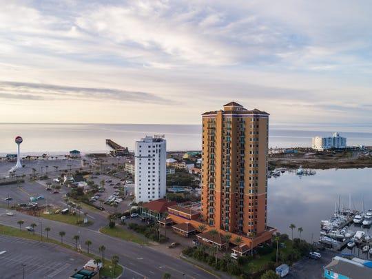 721 Pensacola Beach Boulevard - Verandas #601, front view.