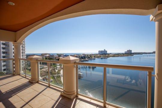 721 Pensacola Beach Boulevard - Verandas #601The expansive balcony over Little Sabine.