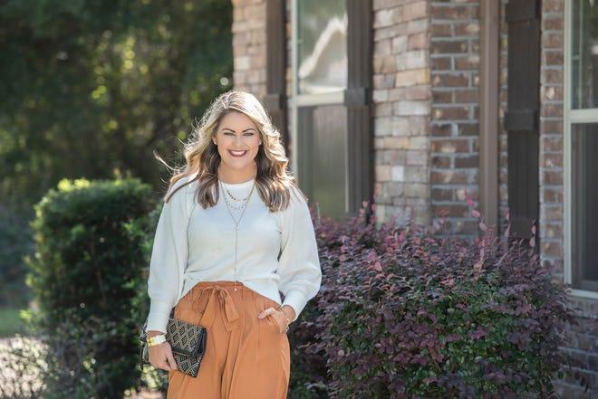 Dana Hall.Sweater, Target; pants; Dillard's; shoes, Target.