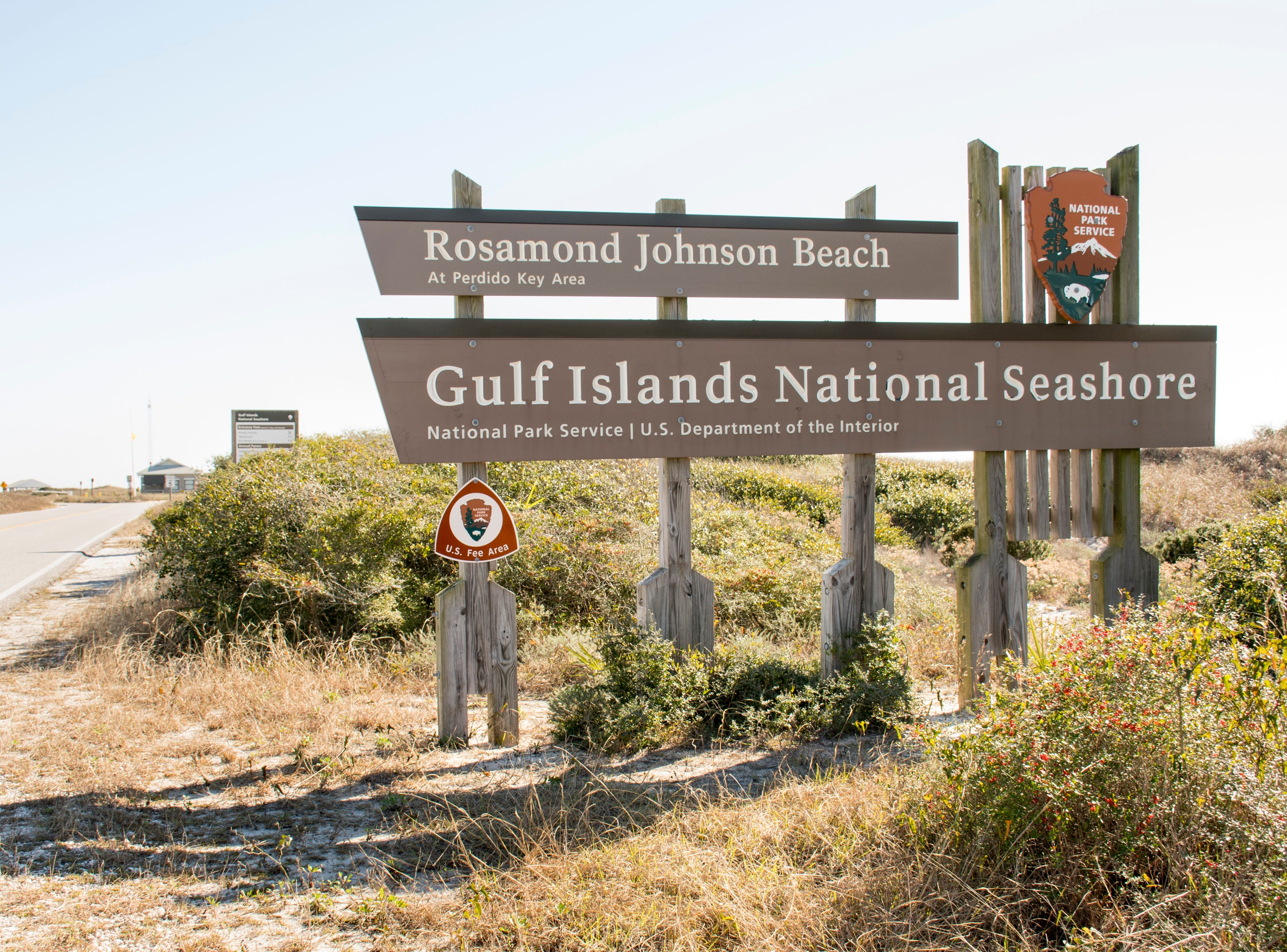 Gulf Islands National Seashore's Rosamond Johnson Beach in Perdido Key remains closed Friday, Jan. 11, 2019, as the federal government shutdown continues.