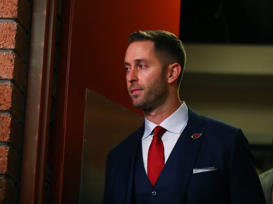 Kliff Kingsbury talked about his October comments about Kyler Murray in an interview.
