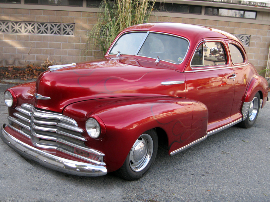 This 1948 Chevrolet Fleetmaster Coupe will be sold at Barrett-Jackson in Scottsdale on Monday.