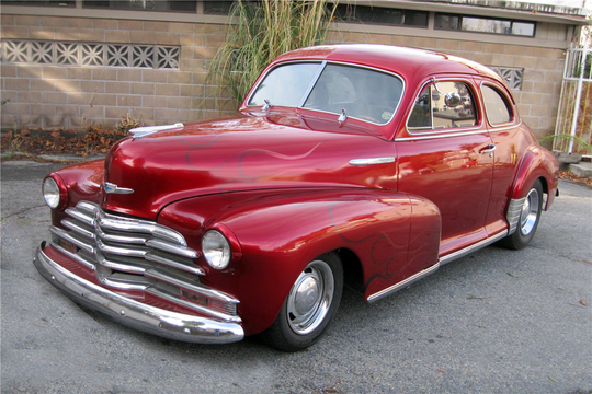 This 1948 ChevroletFleetmaster Coupe will be sold at Barrett-Jackson in Scottsdale on Monday.