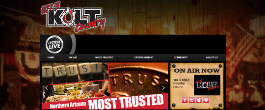 107.5 KOLT Country webpage