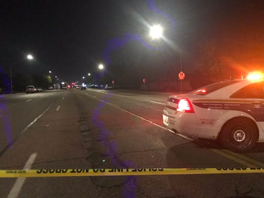 An armed robbery resulted in a police shooting near 91st Avenue and Camelback Road, say Phoenix police. One person was taken to a hospital in extremely critical condition.