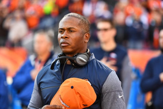 Dec 10, 2017; Denver, CO, USA; Denver Broncos head coach Vance Joseph before the game against the New York Jets at Sports Authority Field at Mile High.
