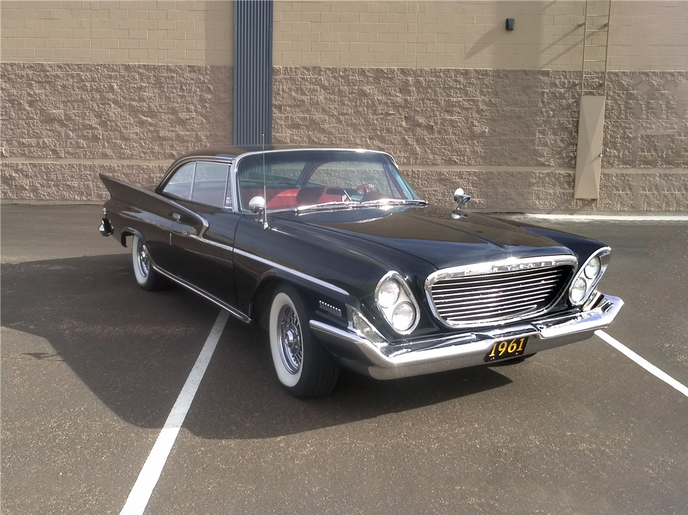 This 1961 Chrysler Windsor will be sold at Barrett-Jackson in Scottsdale on Monday.