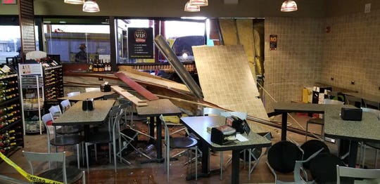A van crashed into the Chambersburg Rutter's on South Main Street Friday morning, causing significant damage to the store's dining area.