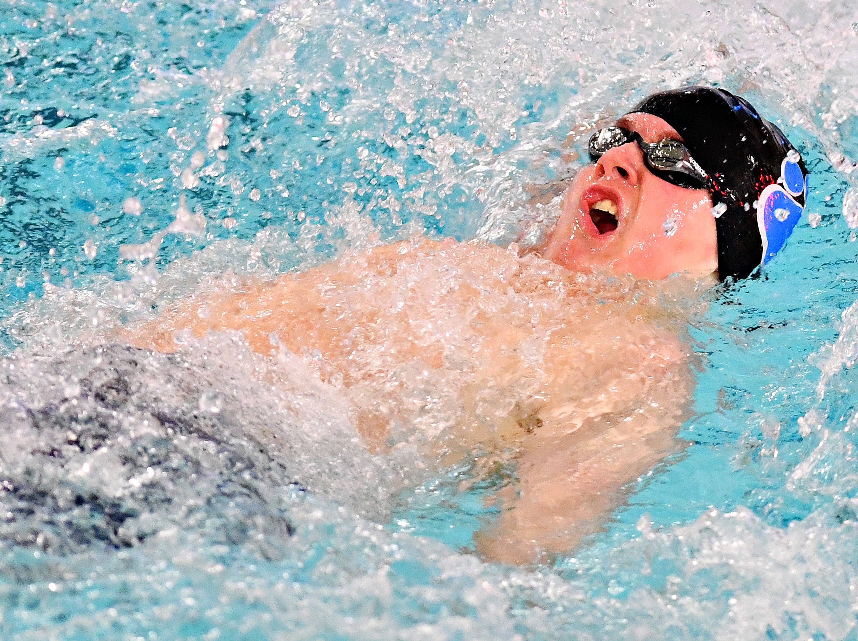 Central York vs Dallastown during swimming action at Dallastown Area High School in York Township, Thursday, Jan. 10, 2019. Dawn J. Sagert photo
