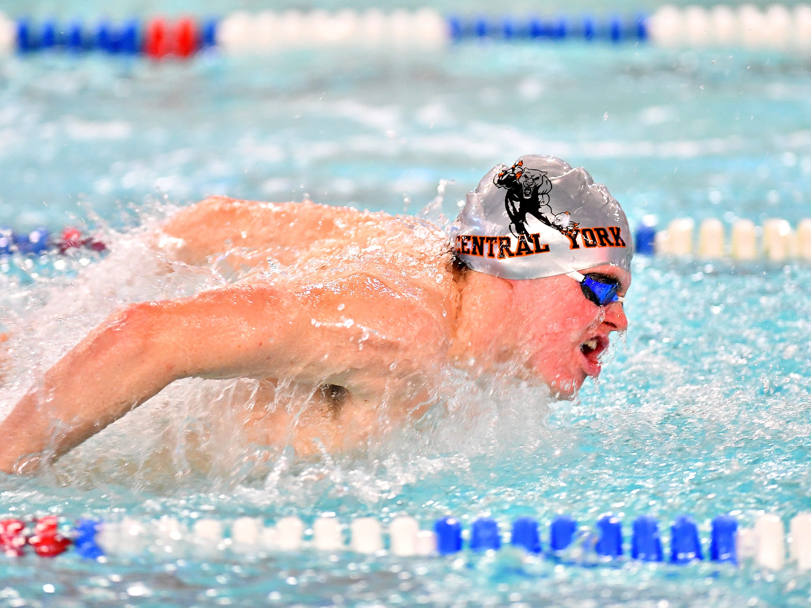 Central York vs Dallastown during the Boys 200 Yard Medley Relay event at Dallastown Area High School in York Township, Thursday, Jan. 10, 2019. Dawn J. Sagert photo