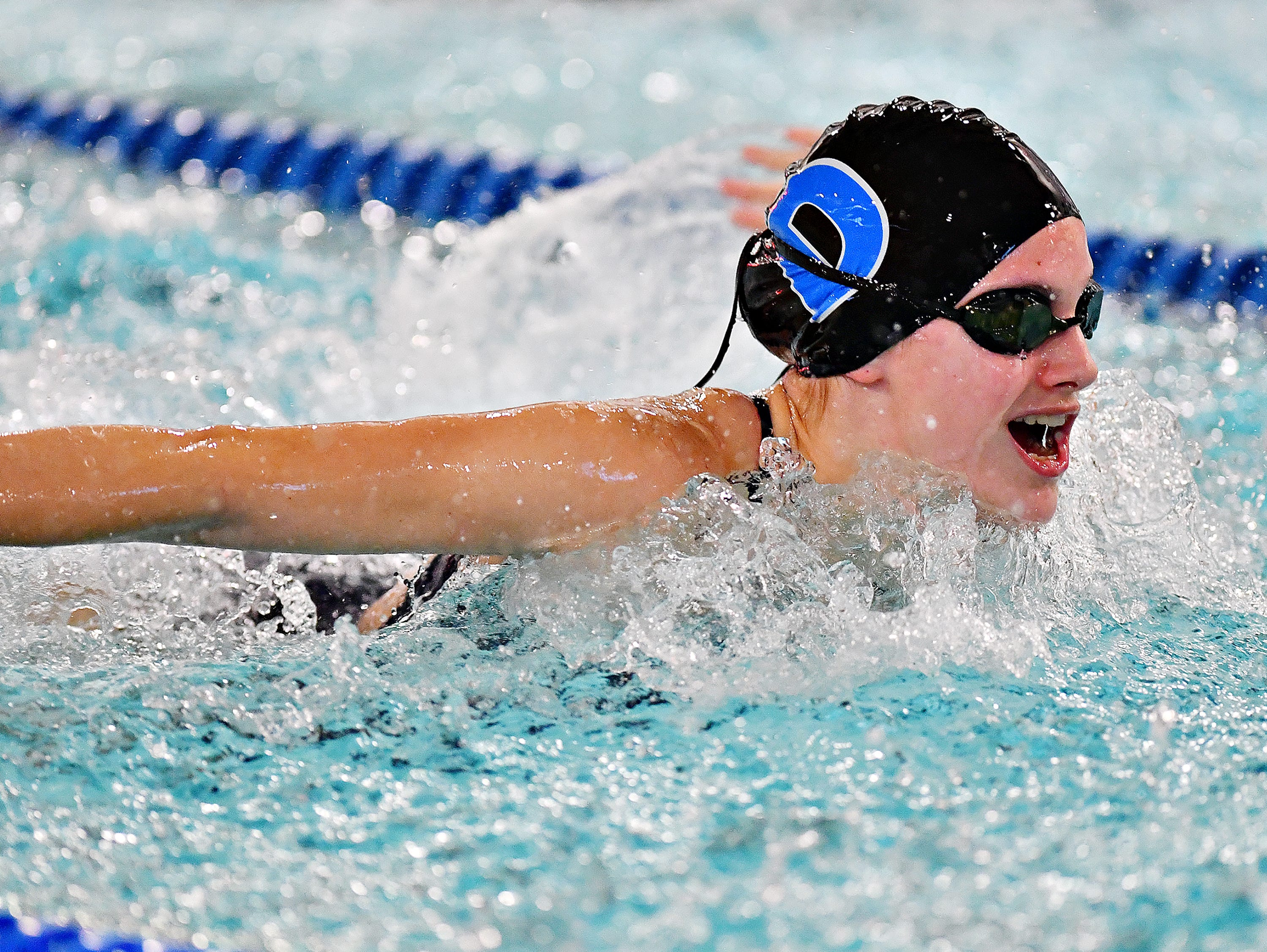 Central York vs Dallastown during the Girls 200 Yard Medley Relay event at Dallastown Area High School in York Township, Thursday, Jan. 10, 2019. Dawn J. Sagert photo