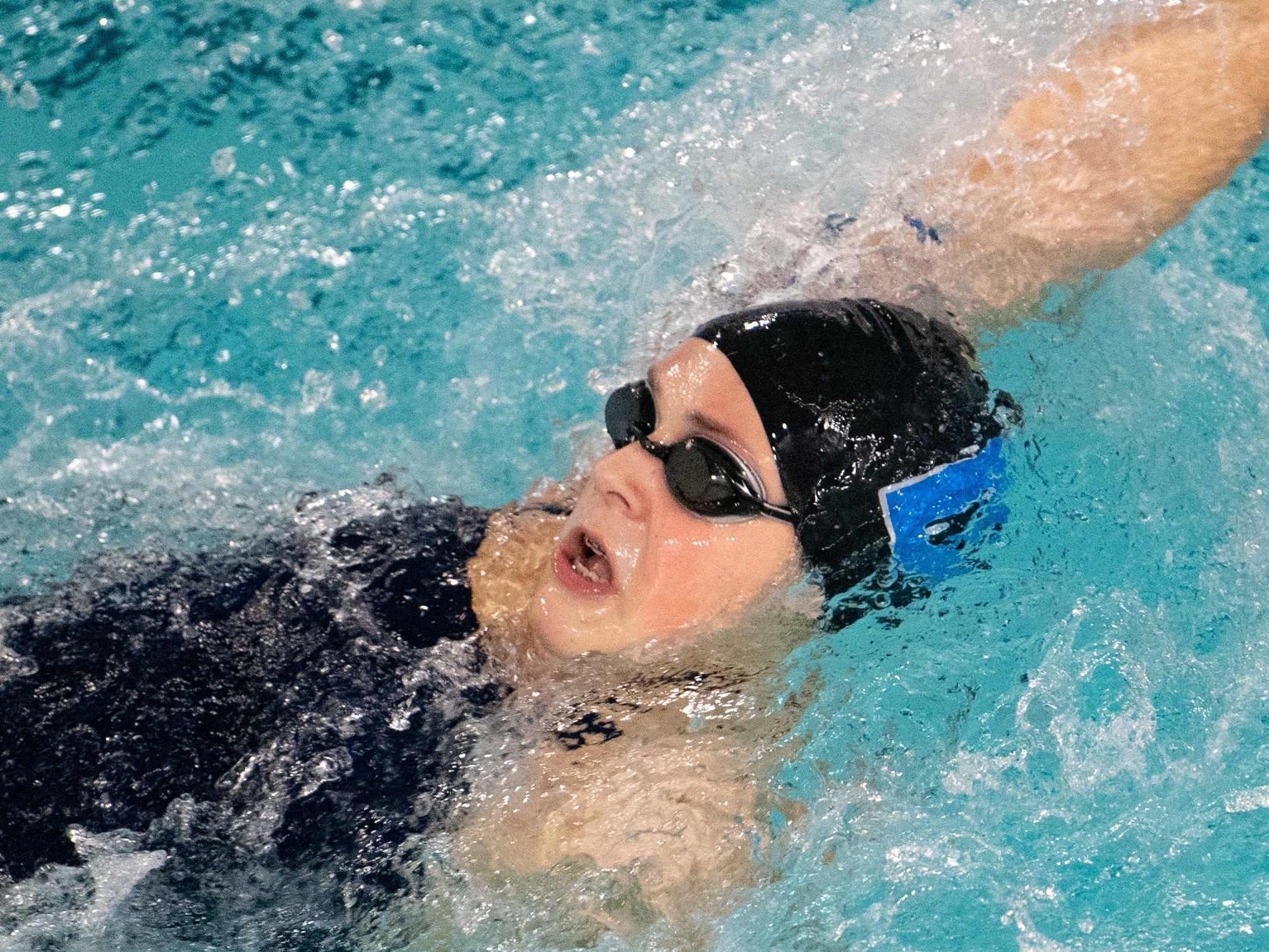 Langley Brockway picks up speed during the boys' and girls' swim meet between Dallastown and Central York, January 10, 2019. The Panthers defeated the Wildcats 93 to 77 and the Lady Panthers defeated the Lady Wildcats 96 to 74.