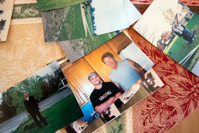 Kyle Pitts, left, and his father, John, in one of the many old photographs that John has. Kyle and his father were close growing up, and the duo still like to go hunting and do other outdoor activities together. Since Kyle was shot in a shootout in Harrisburg, in Jan. of 2018, John said that it really puts life in perspective.