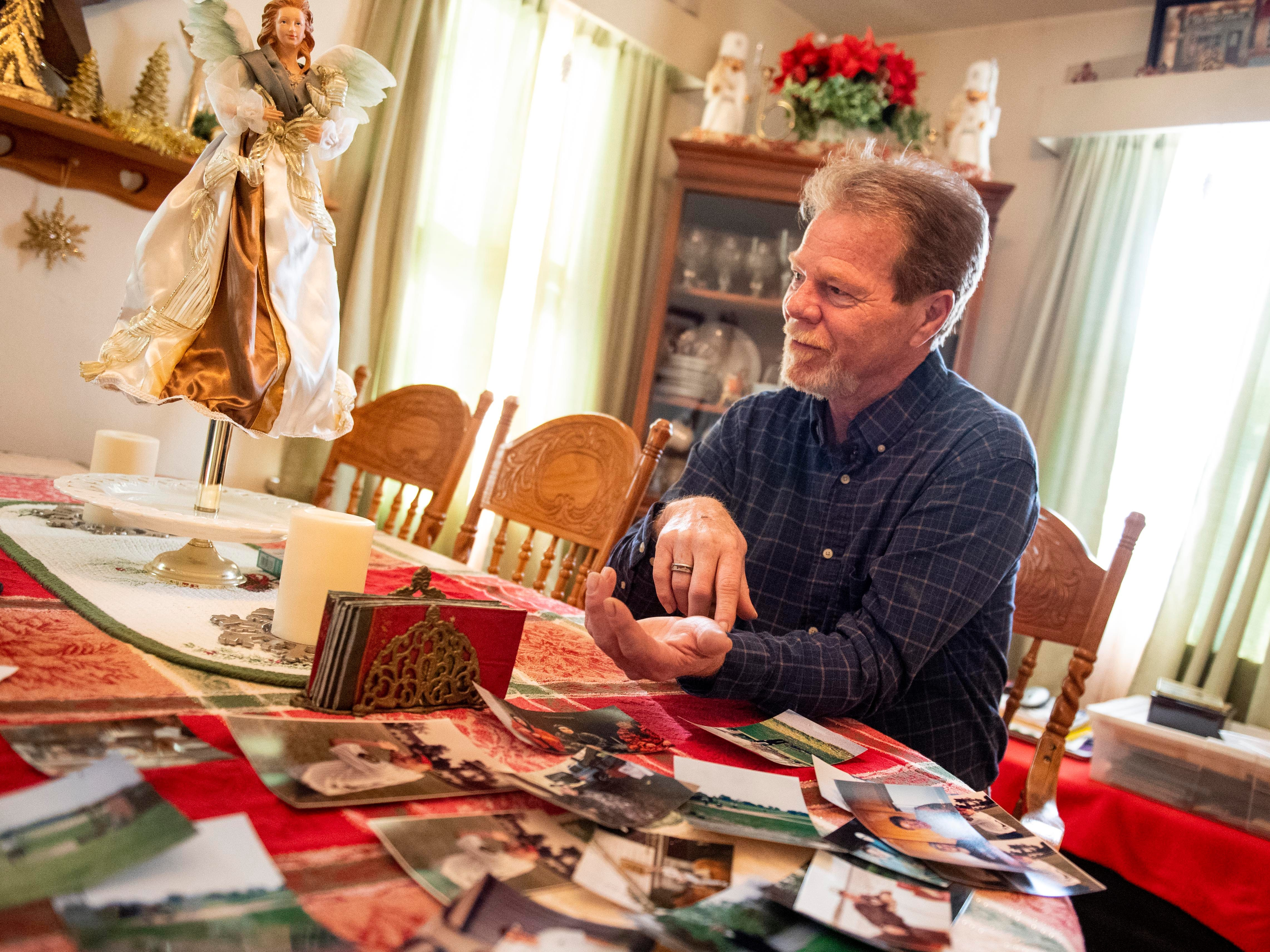 Sitting behind scattered photographs of his son, York City Police Officer Kyle Pitts, John Pitts talks about Kyle's recovery, his attitude toward it, and Kyle's determination to get back to serving his community. Kyle was shot in the arm in January 2018 while serving a warrant in Harrisburg with the U.S. Marshals. His teammate, U.S. Marshal Christopher Hill, died in the shootout.