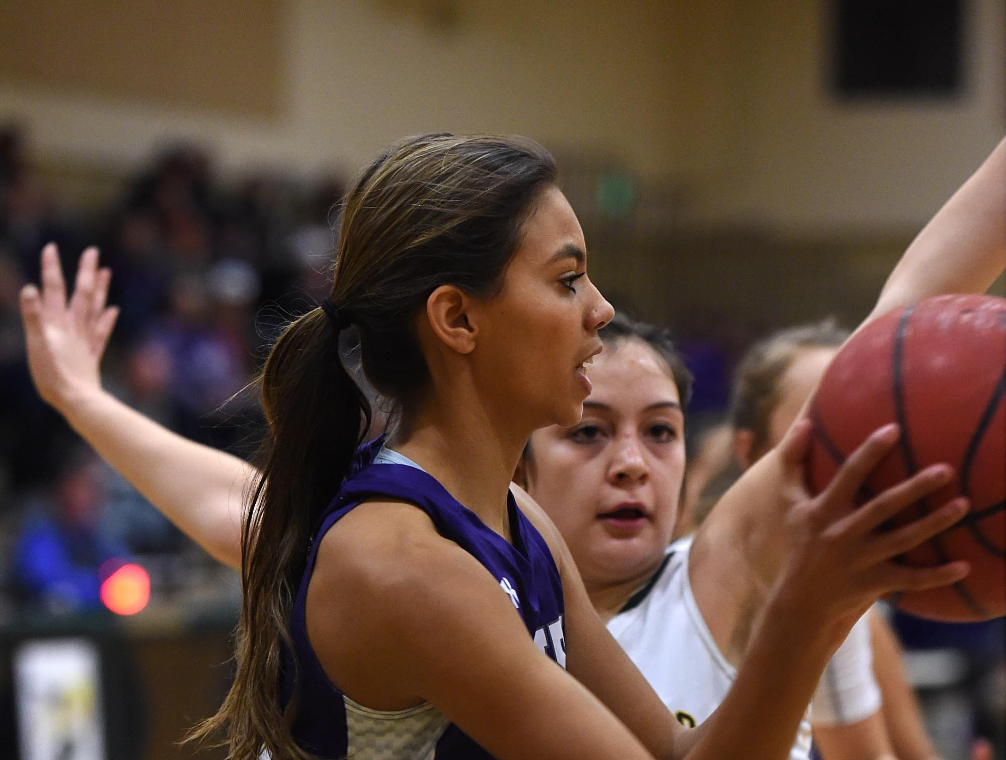 Action photos from the Spanish Springs at Bishop Manogue girls basketball game on Thursday Jan. 10, 2019. Spanish Spring won 51-48