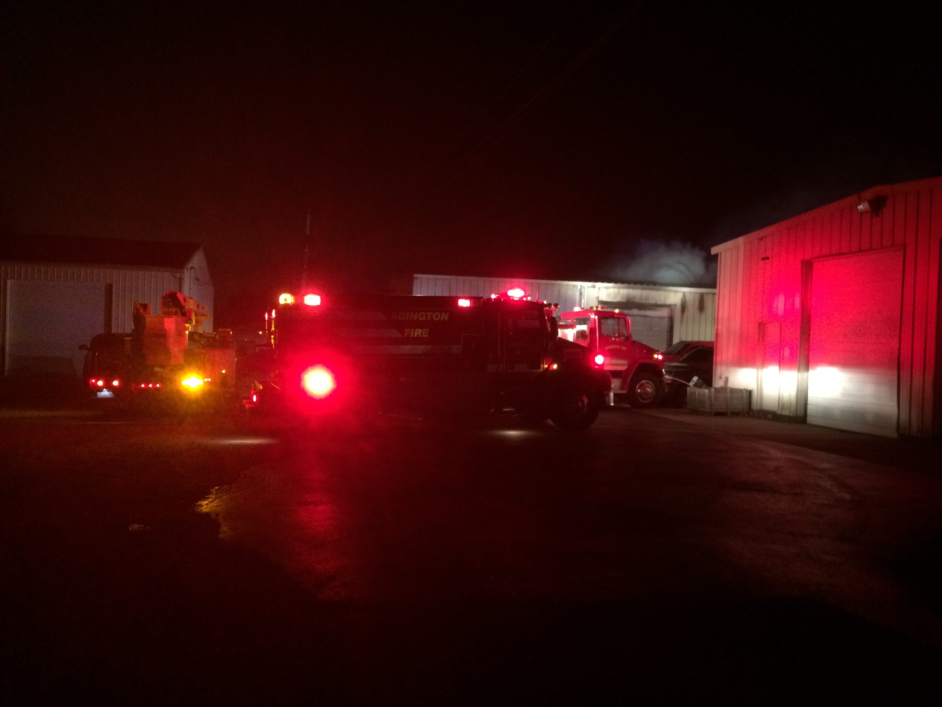 Firefighters were called Thursday night to fight a fire at the Red Diamond Diesel repair shop in the 4100 block of National Road West.