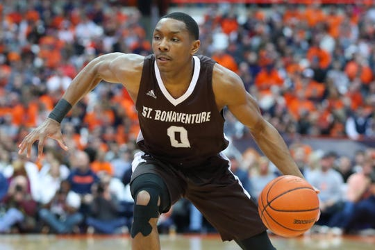 St. Bonaventure guard Kyle Lofton drives to the basket during a game against Syracuse earlier this season. Lofton, a freshman, is averaging 13.8 points, 4.2 assists and 37.1 minutes per game.