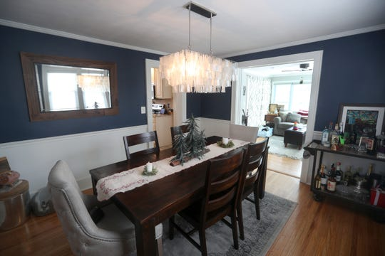 The dining area in the Fairport home of Mark and Lynne Van Thof.