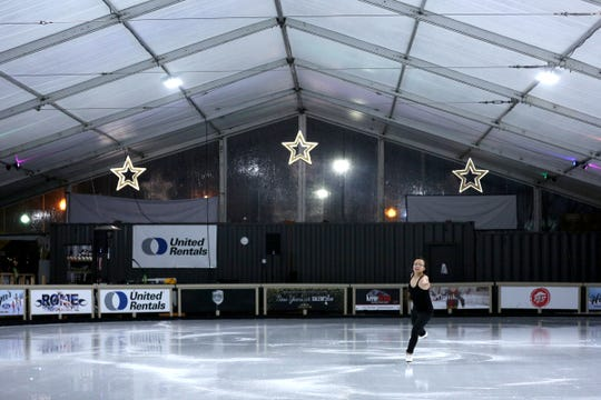 Hanna Tu practices figure skating at Salem On Ice on Wednesday, Dec. 9, 2019. Tu is training with a coach in Portland and is planning to compete this spring.