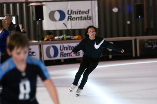 Hanna Tu, a West Salem freshman, skates at Salem On Ice on Wednesday, Dec. 9, 2019. Tu is training with a coach in Portland and is planning to compete this spring.
