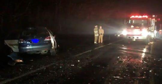 A woman is dead following a head-on crash on Highway 101 near milepost 152 Thursday evening.