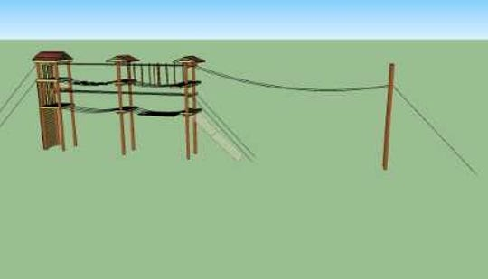 More blueprints for the new ropes course that is being constructed at Sonrisas Trails, 5185 S. Bryant Ln.