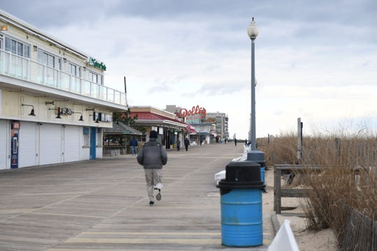 The Rehoboth Boardwalk on Wednesday, Jan. 9, 2019.