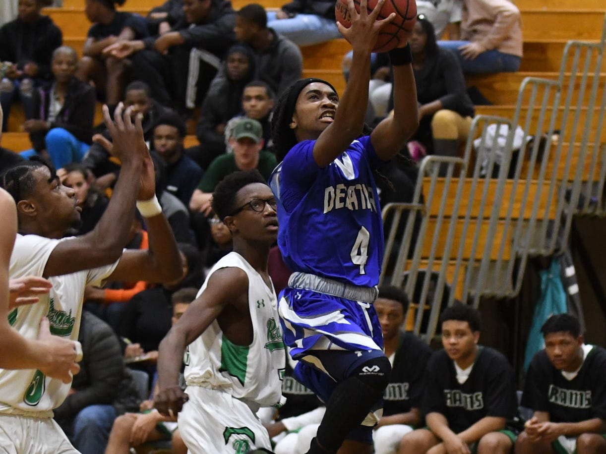 Stephen Decatur's Antonio Collins shoots the ball down the court against Parkside on Thursday, Jan. 10, 2019.