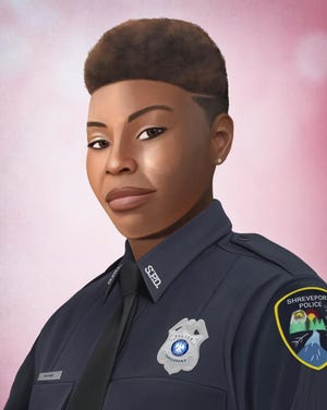 This is a portrait of Shreveport Louisiana Police Officer Chateri Payne.