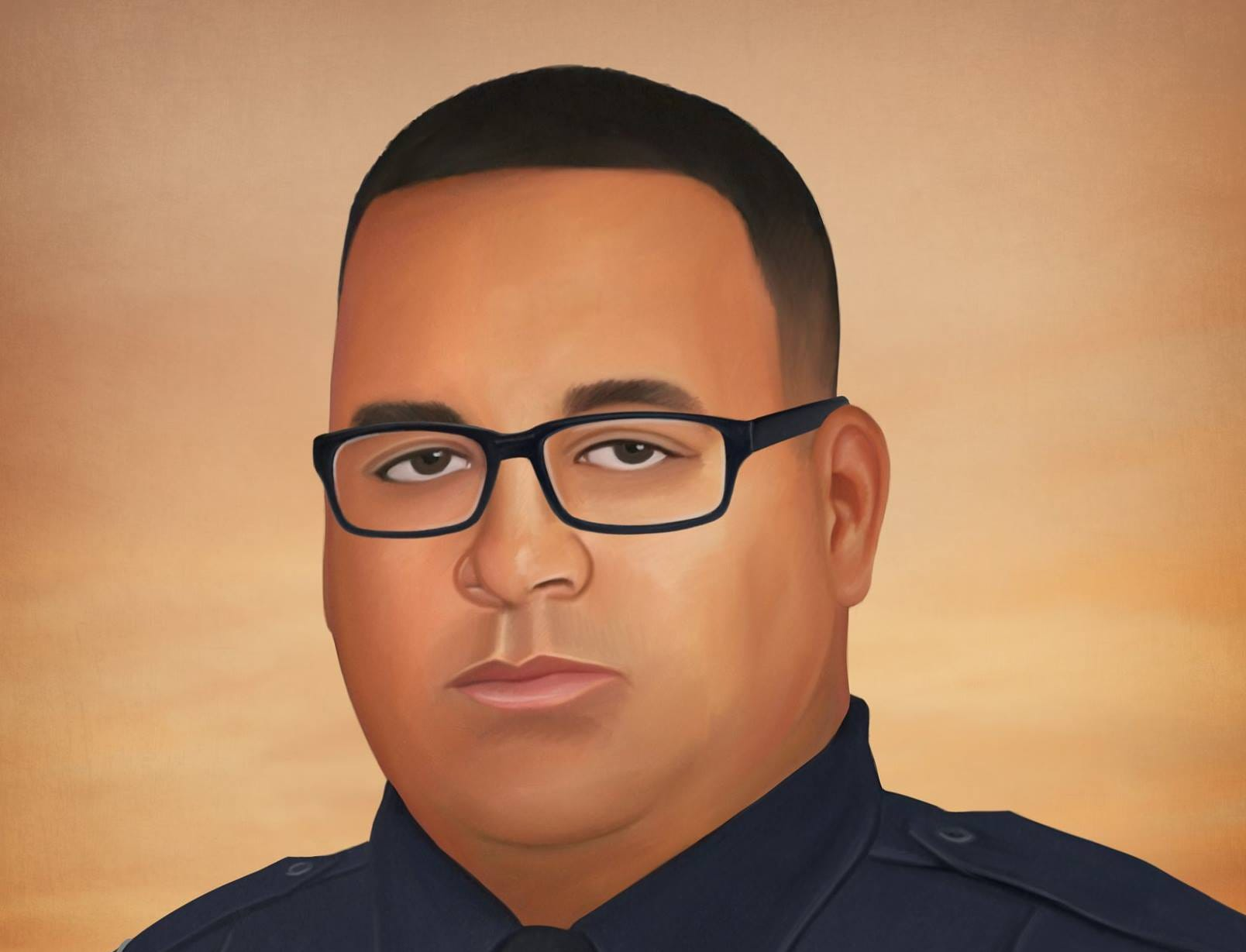 On December 15th, Lumberton (North Carolina) Police Officer Jason Quick had responded to a vehicle accident on Interstate 95. While investigating the crash, Jason was fatally struck by another vehicle. Painting by Jonny Castro Art