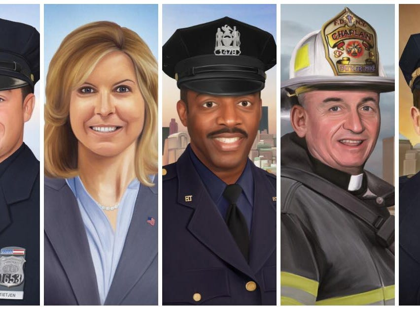 """""""On the eve of 9/11, I just wanted to share a few of the portraits I've painted over the past few years of men and women who gave their lives because of that day."""" Jonny Castro"""