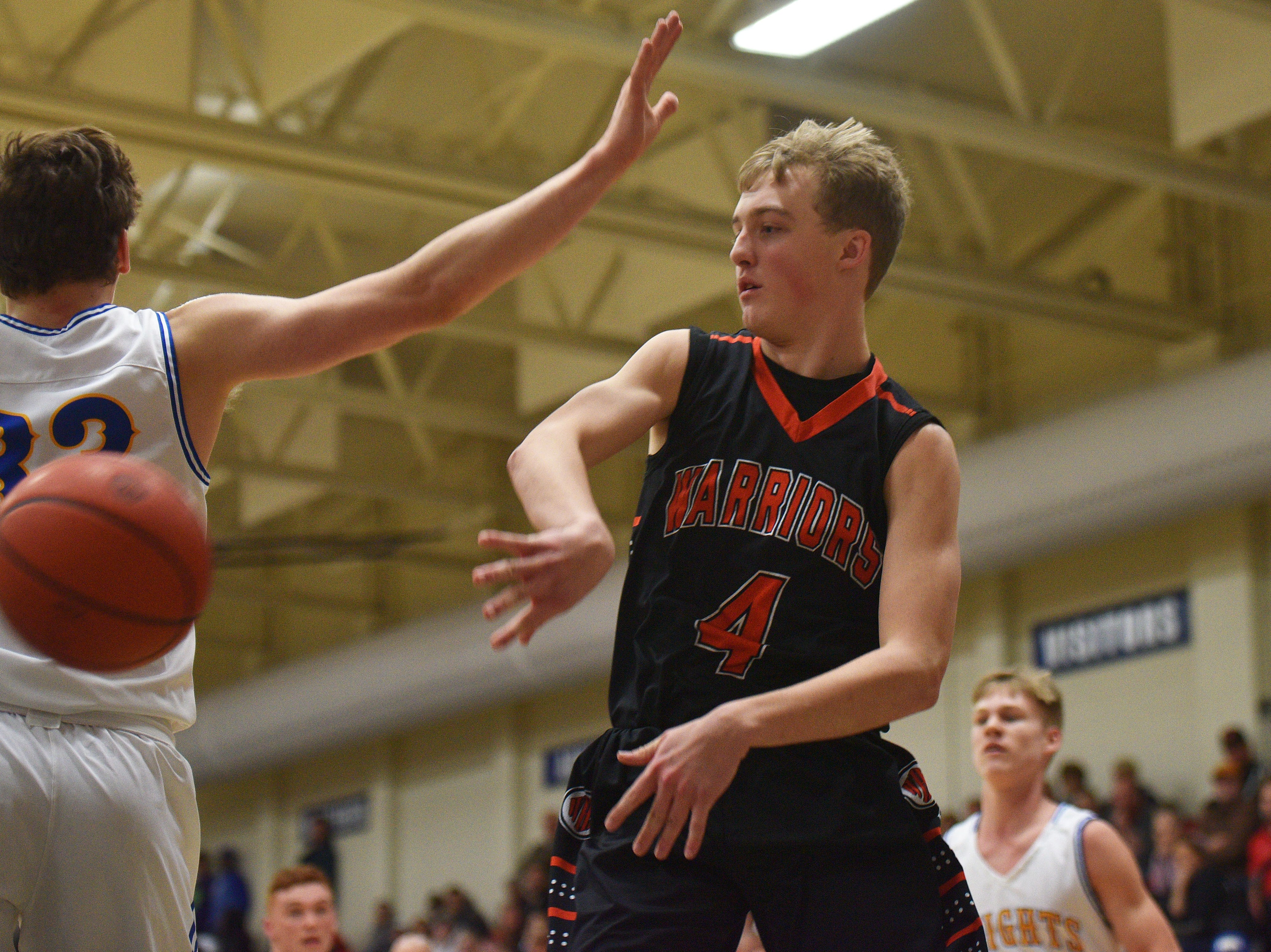 Washington's Dagen Schramm goes against O'Gorman during the game Thursday, Jan. 10, at O'Gorman in Sioux Falls.