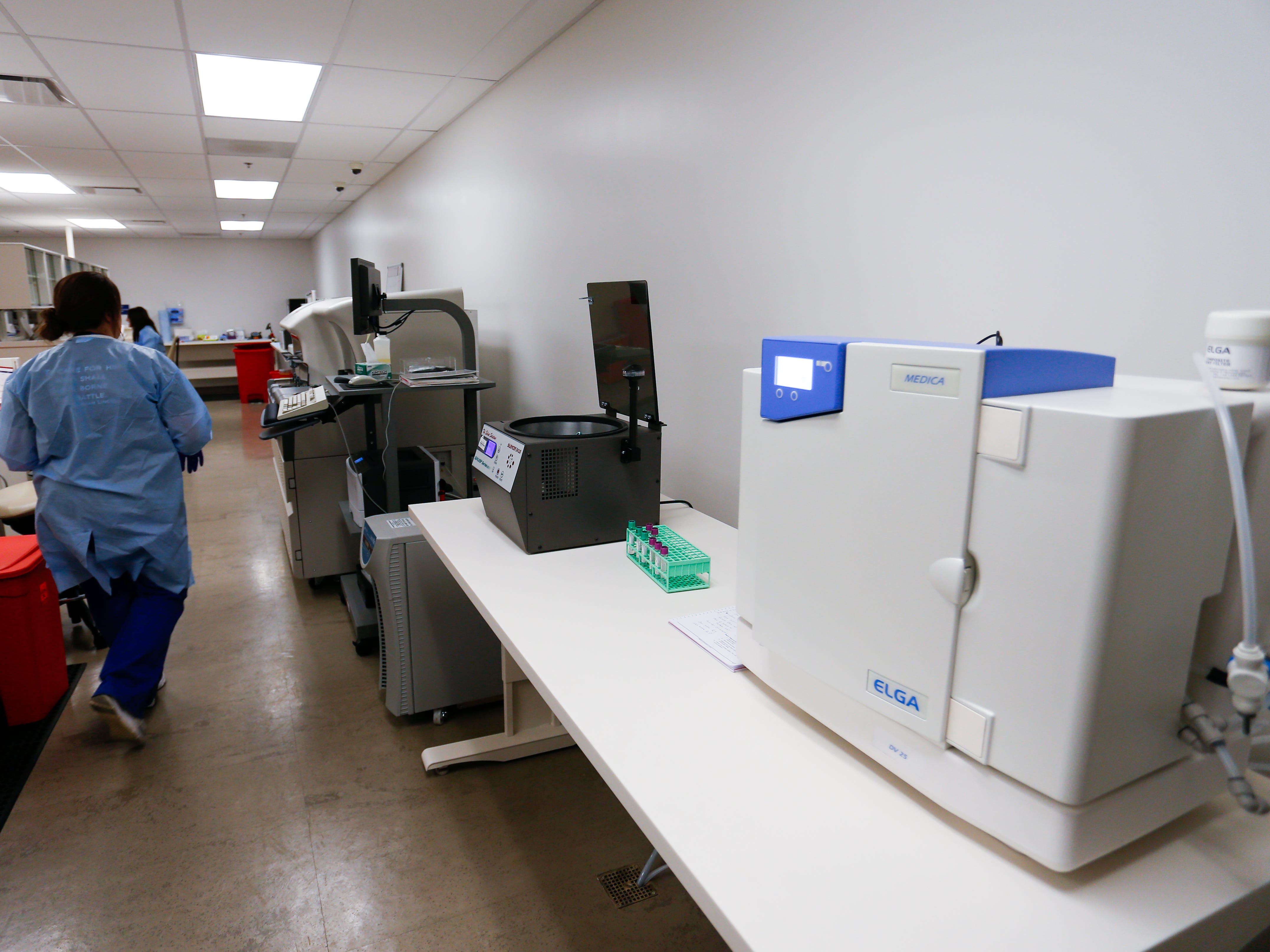 A laboratory inside the Department of Veterans Affairs Gene Taylor Community Based Outpatient Clinic in south Springfield on Thursday, Jan. 11, 2019.