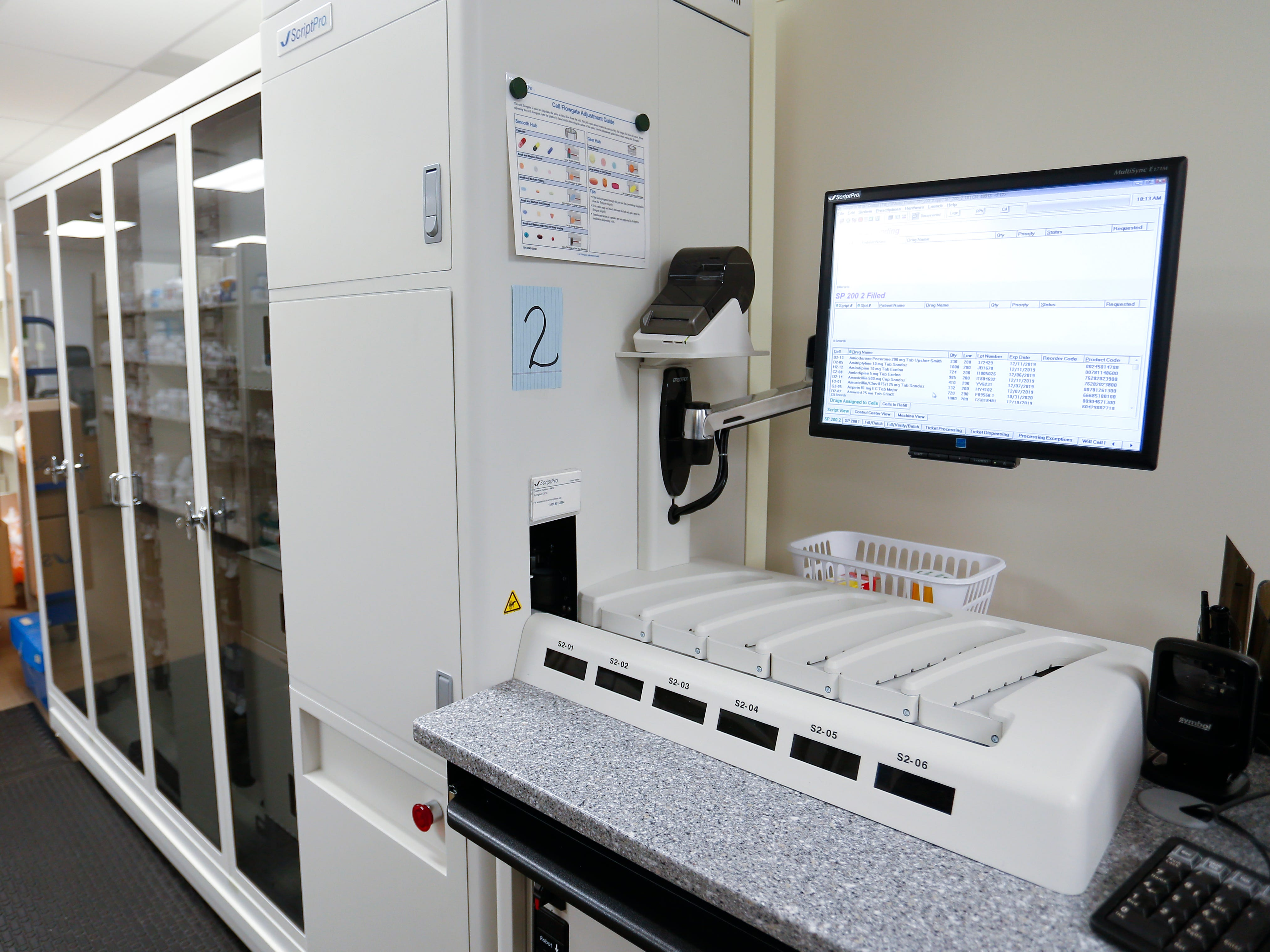 A robotic pharmacy dispensing machine inside the Department of Veterans Affairs Gene Taylor Community Based Outpatient Clinic in south Springfield on Thursday, Jan. 11, 2019.