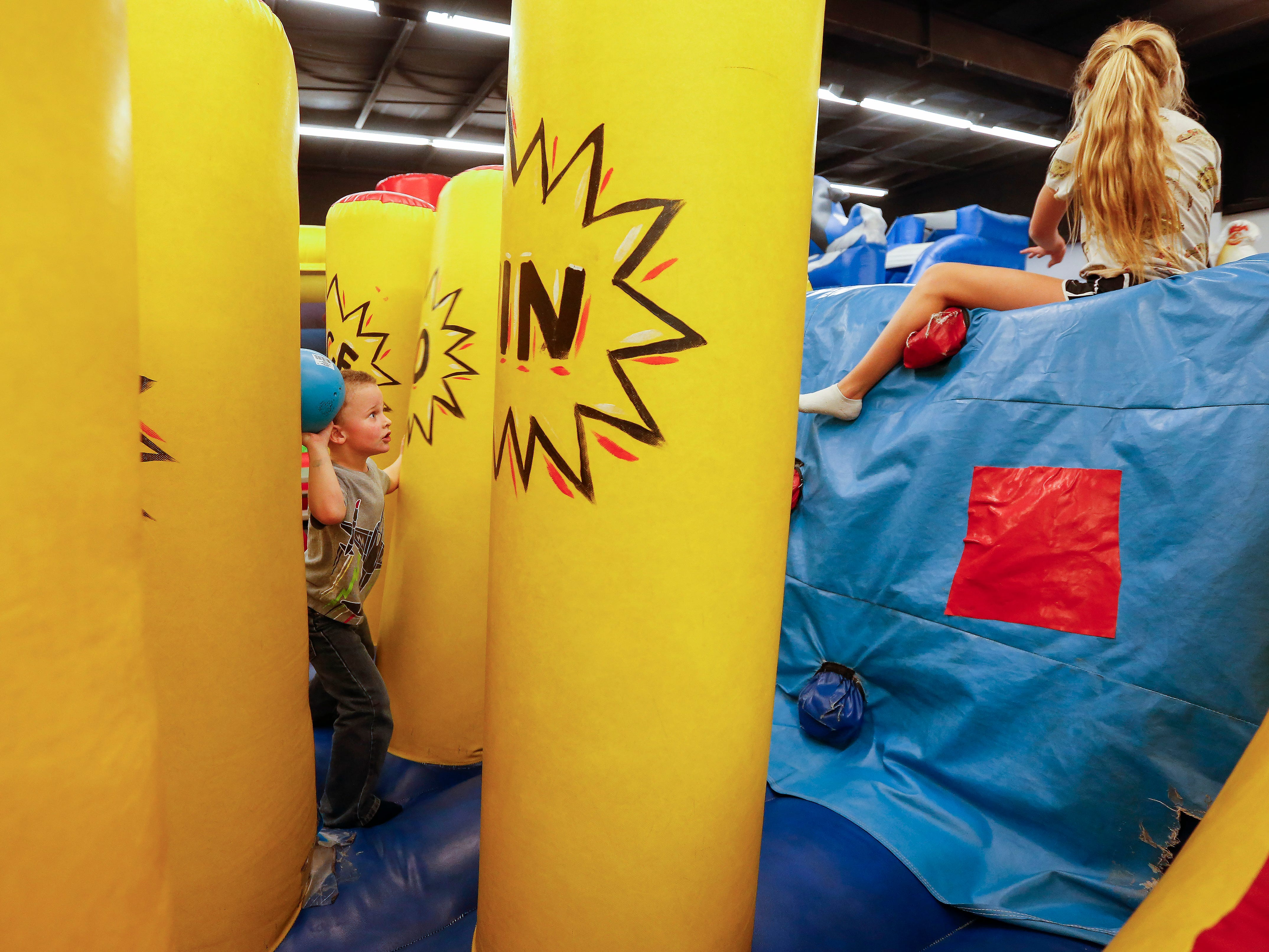 Take the kids to jump on something besides the couch. Jump Mania and Sky Zone are located right next to each other on the 2700 block of Kansas Expressway.