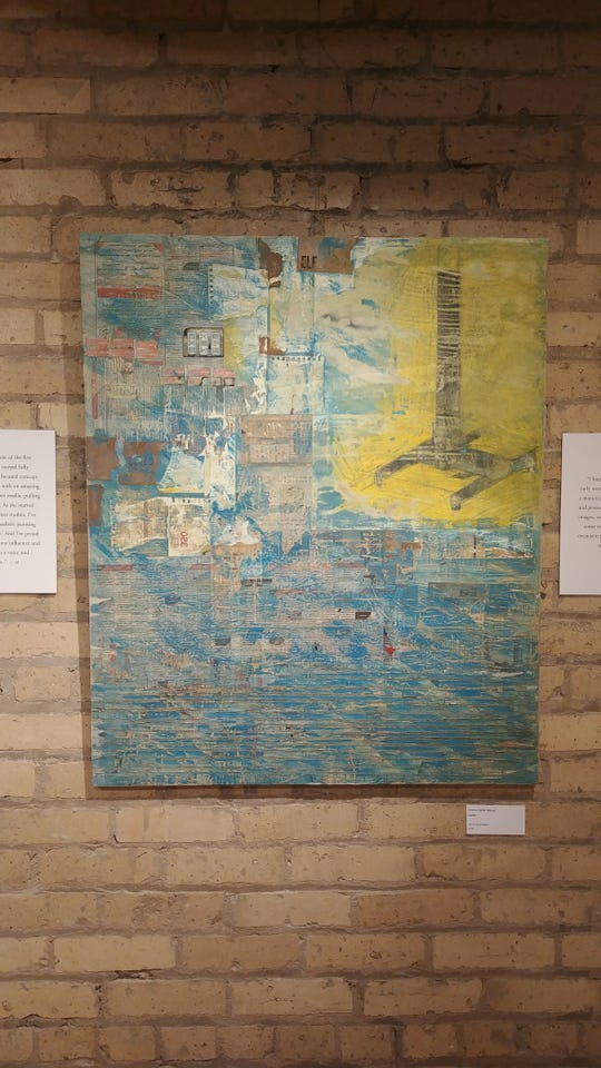 """Donna Meyer's piece """"Lucky"""" on display at Gallery St. Germain."""