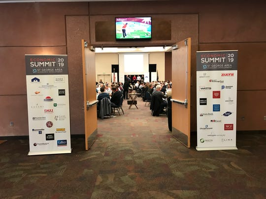 The ballroom at the Dixie Convention Center in St. George was full Thursday as the area's business community gathered for the annual economic summit hosted by the St. George Area Economic Development office.
