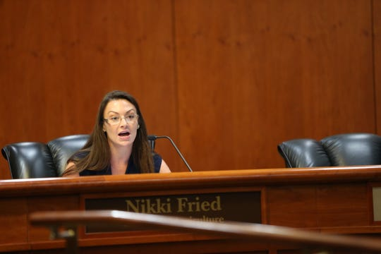 Commissioner of Agriculture and Consumer Services Nikki Fried speaks during a Cabinet meeting Friday, Jan. 11, 2019.